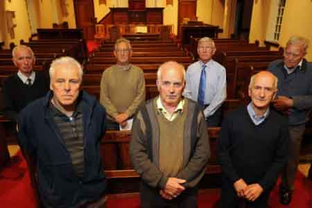 image of angry church members