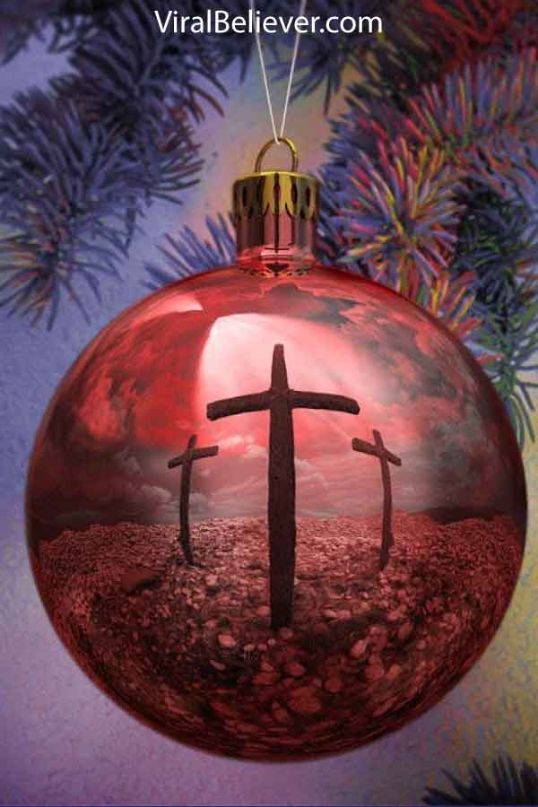 image of a Christmas ornament with 3 crosses