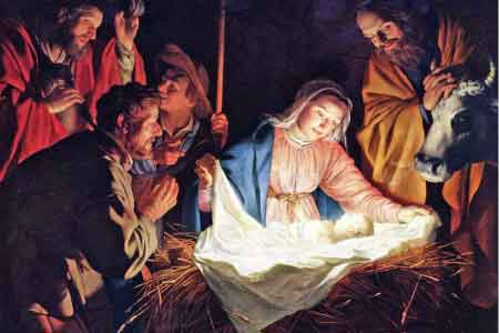 image of Joseph and Mary in the manger