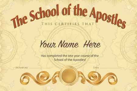 image of an Apostle certificate