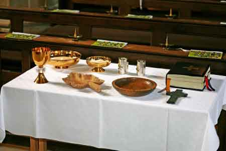 image of a communion table