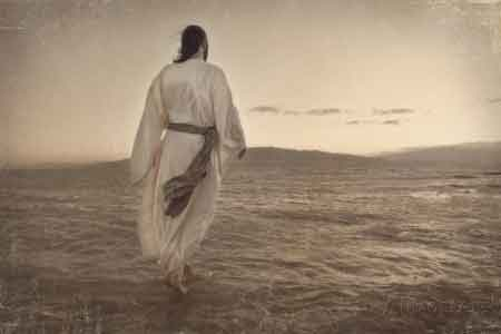 image of Jesus walking on water