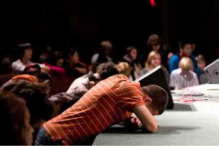 image of an altar call