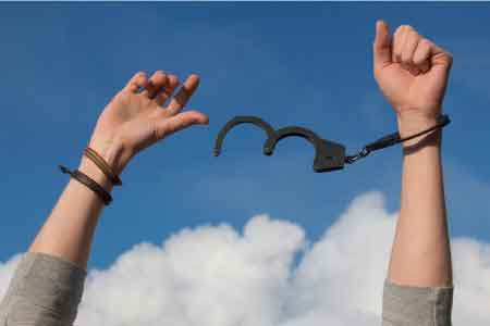 image of a person breaking free of shackles with hope.