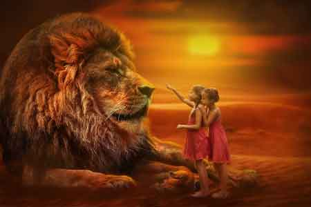 girls being bold as a lion